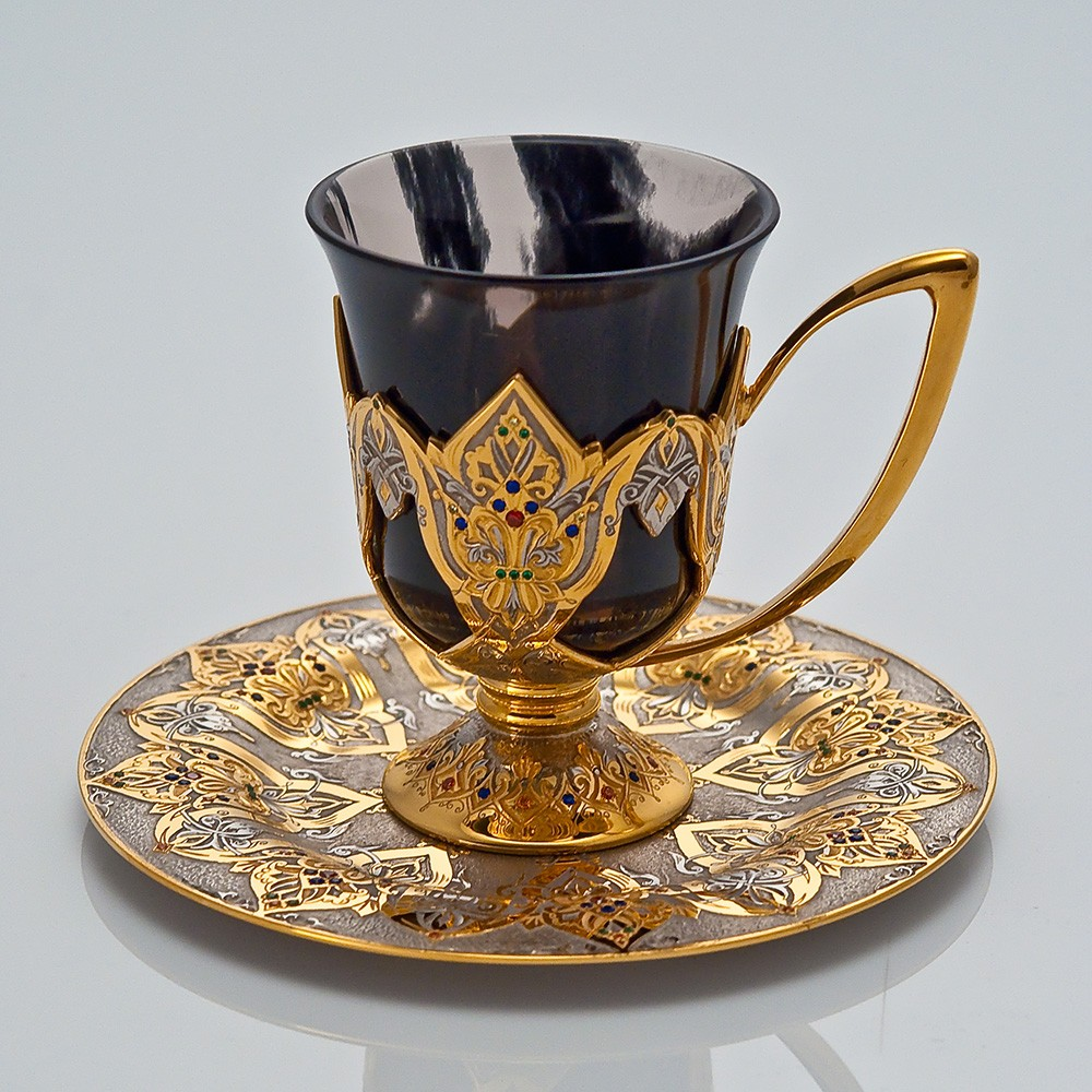Oriental handmade coffee set