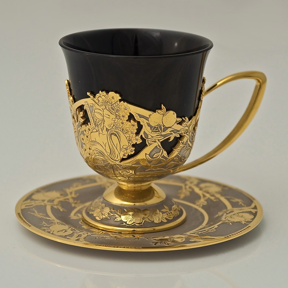 Coffee set from Zlatoust masters