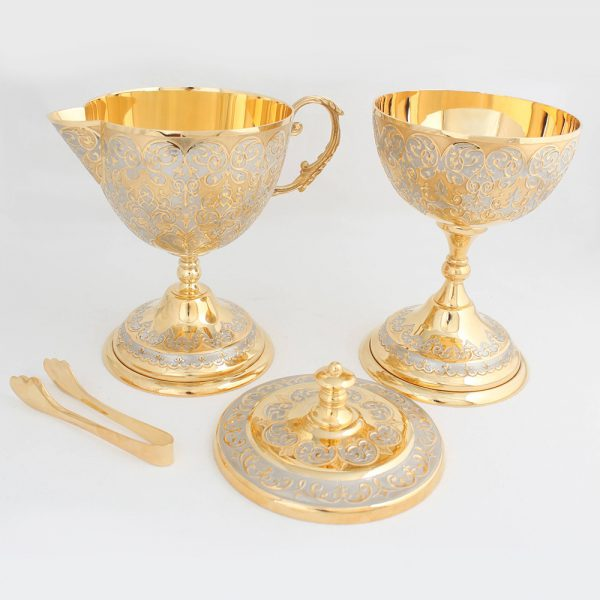 Set of expensive tableware for a gift