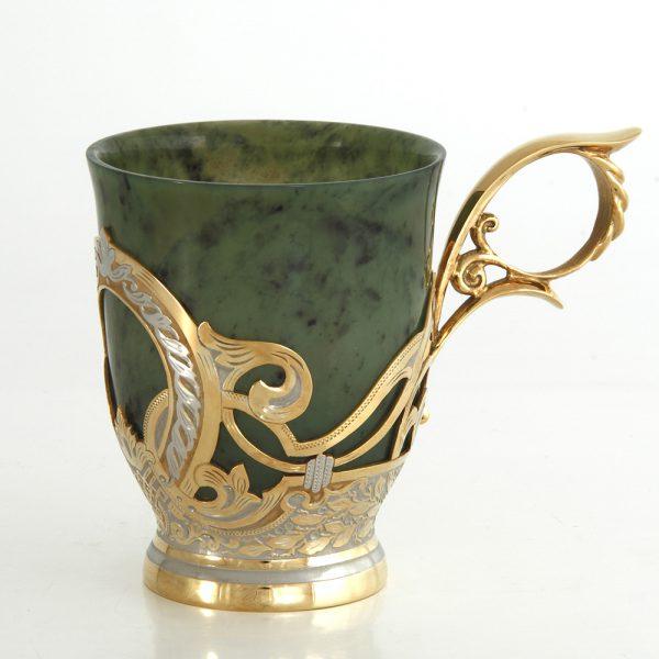 Handmade jade mug