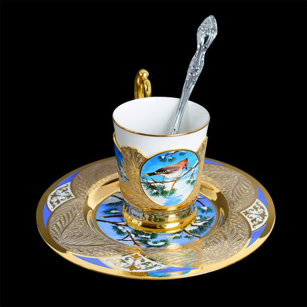 Luxury set for coffee in the Russian style
