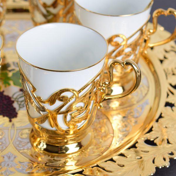 White Gold - Porcelain Coffee Set