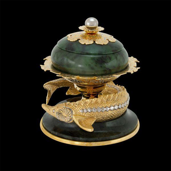 Fine handmade - a dish for serving caviar