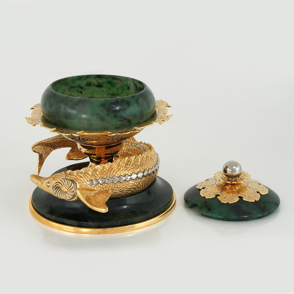 Natural Jade Dish - Caviar Dish