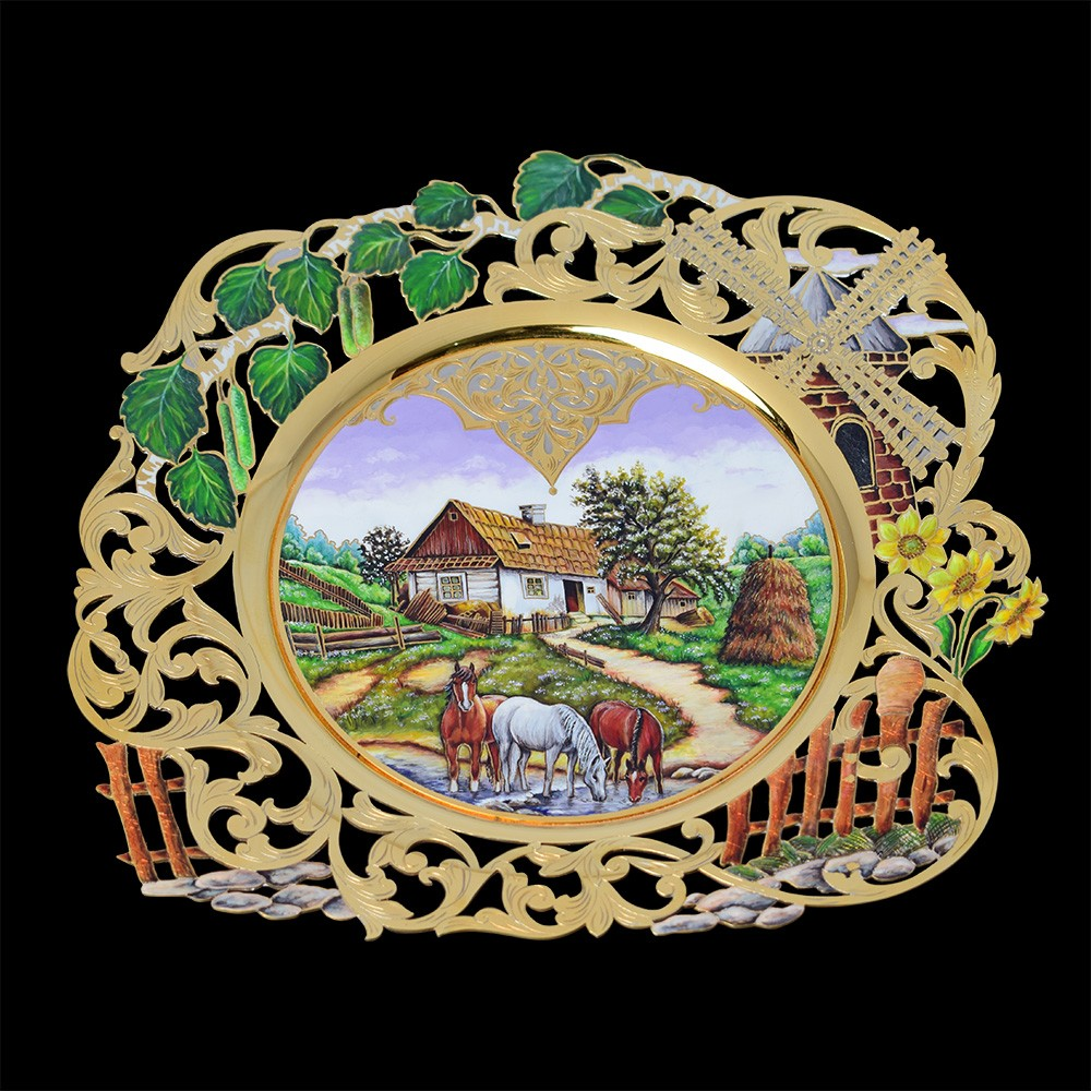 Luxurious dish from masters from the city of Zlatoust