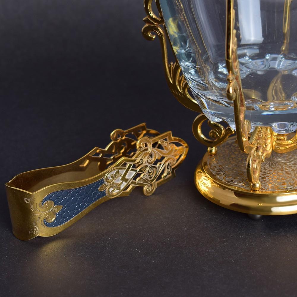 Gold handmade ice tongs