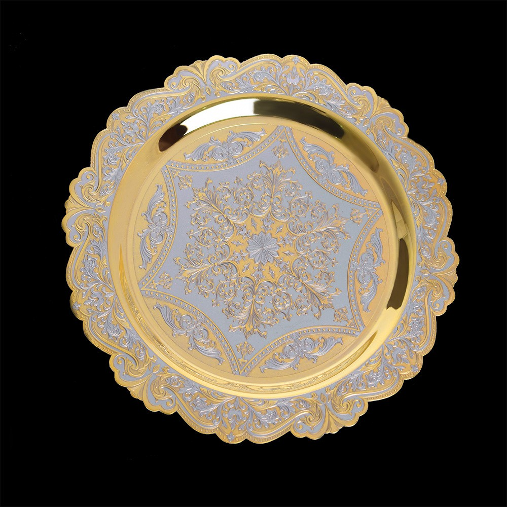 Exquisite handmade gold plate
