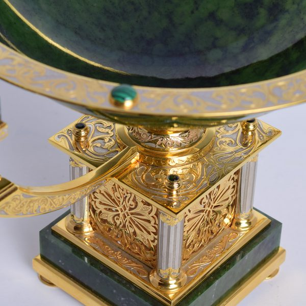 The base of a luxurious fruit dish in the style of Zlatoust metal engraving