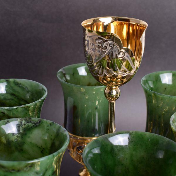Jade Wine Glass Set