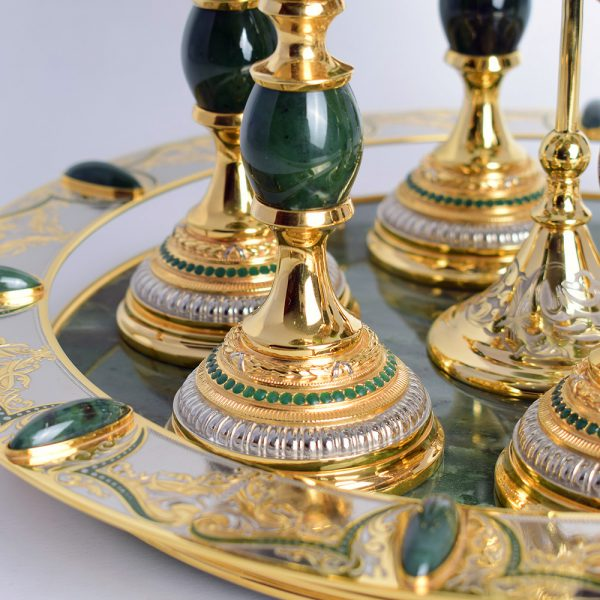 Handmade Jade Tea Set