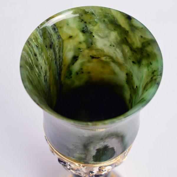 Jade glass goblet