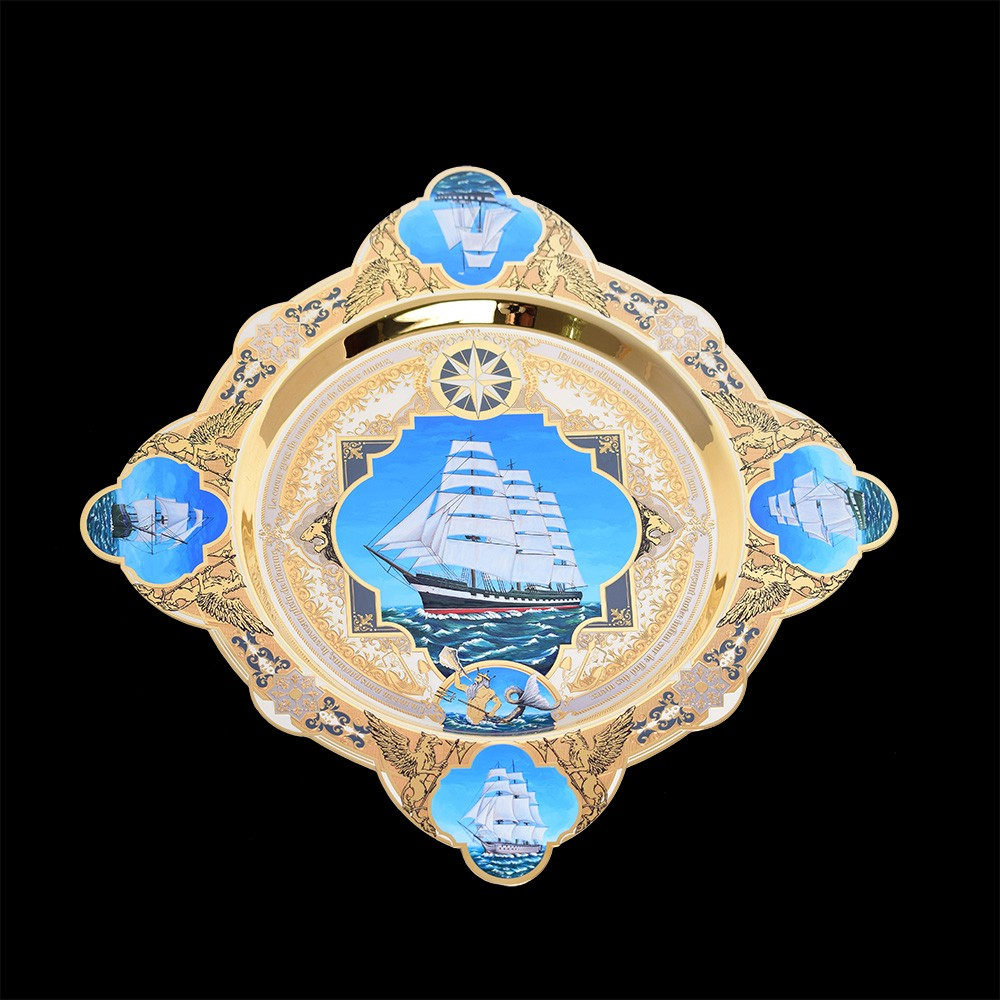 Exclusive business gift - an exclusive dish on the marine theme