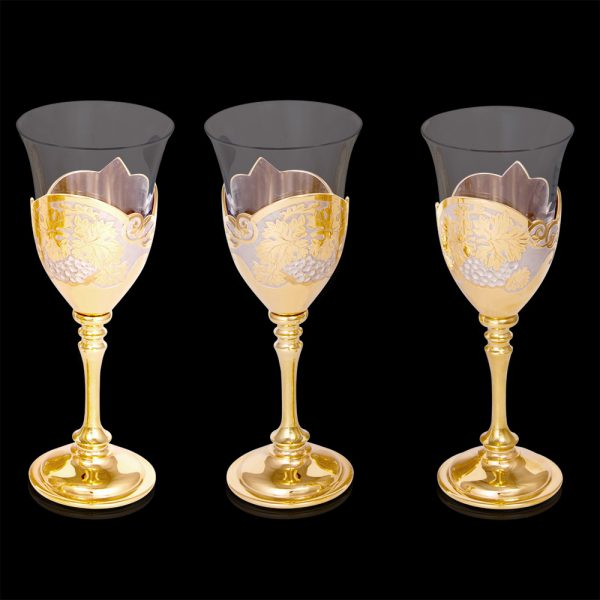 Handcrafted Gold Wine Glasses