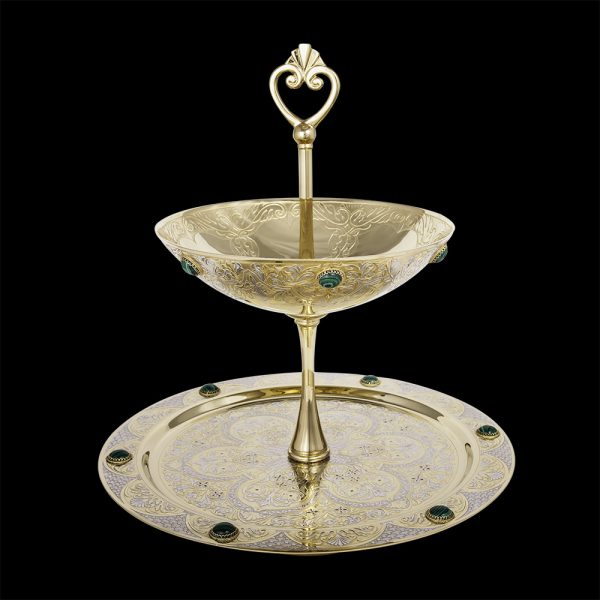Handmade gold dish for sweets and fruits