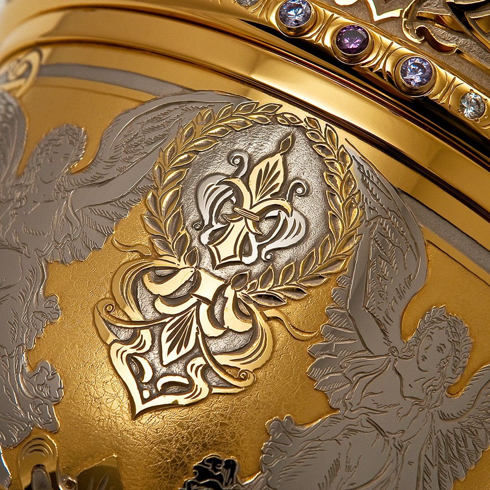Exquisite Engraving Gold Cup