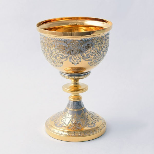 Gold cup for interior decoration. We work to order