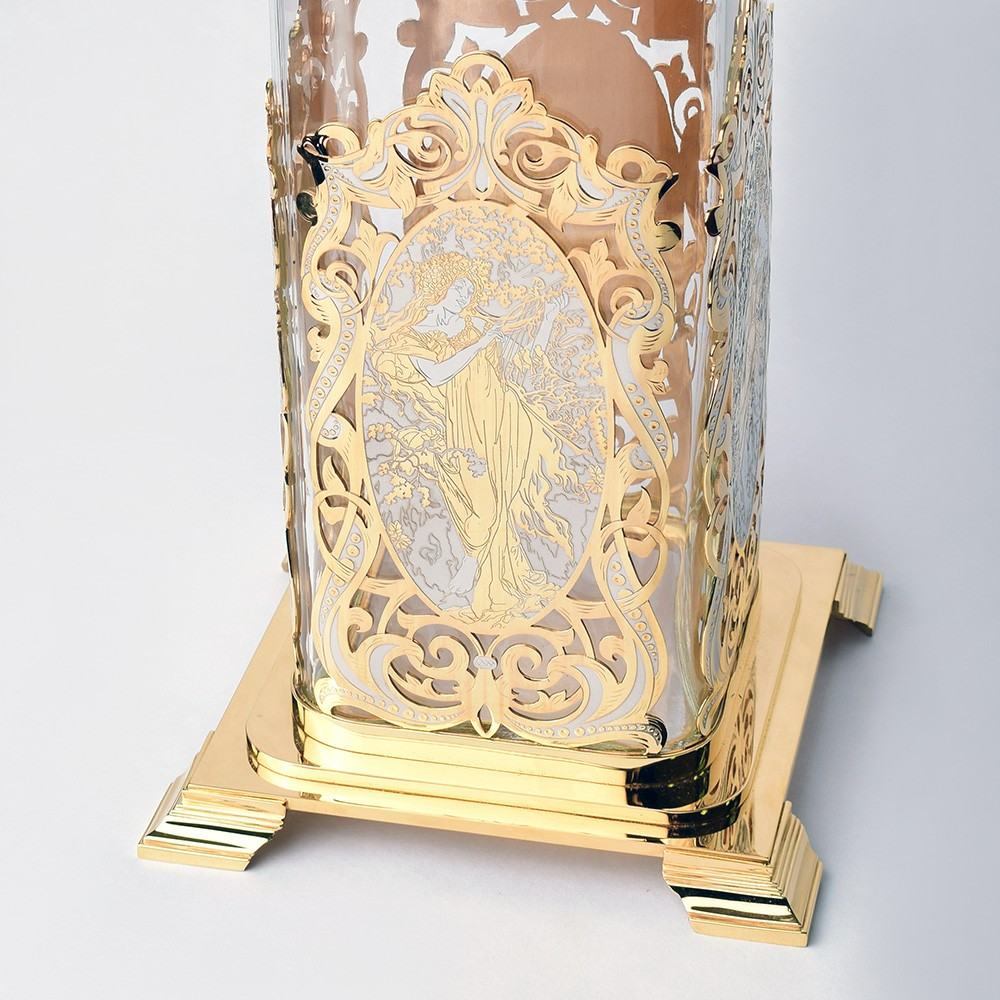 Gold and glass - Vase Diana handmade