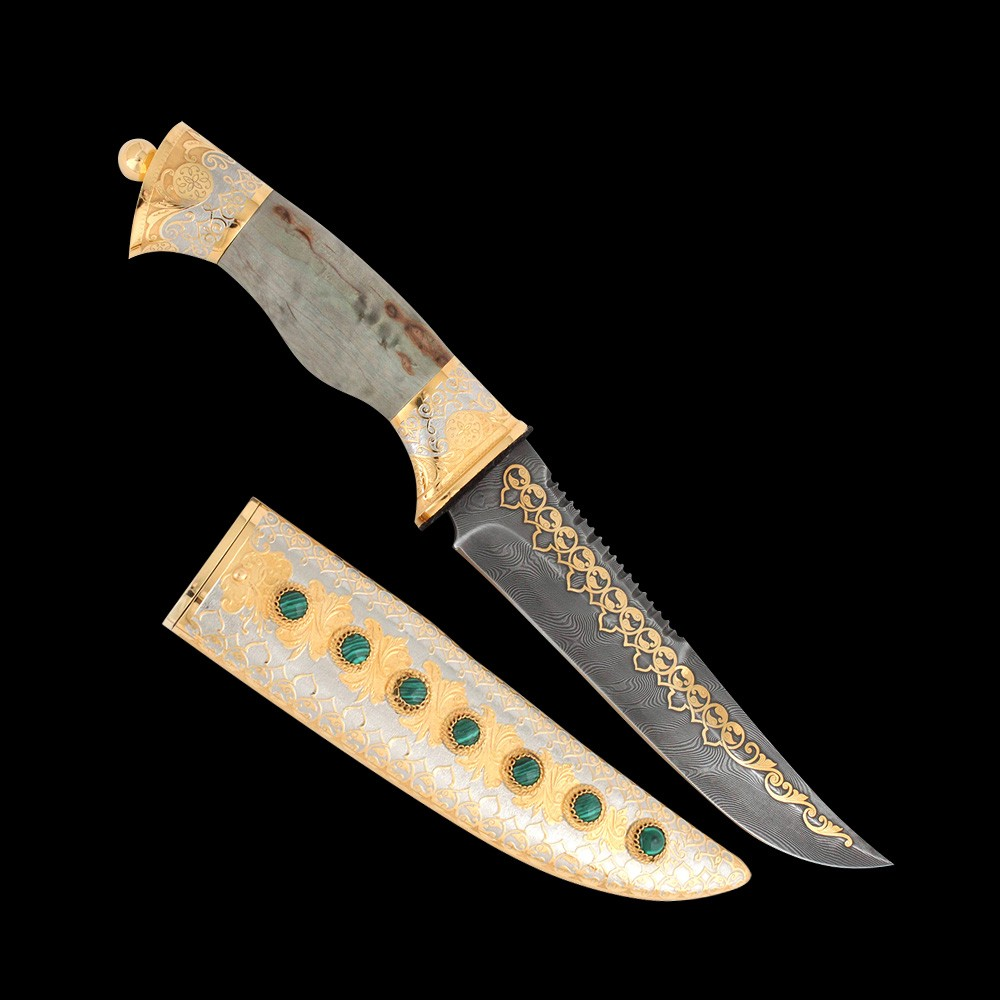 Zlatoust handmade knife. A luxury gift for the boss