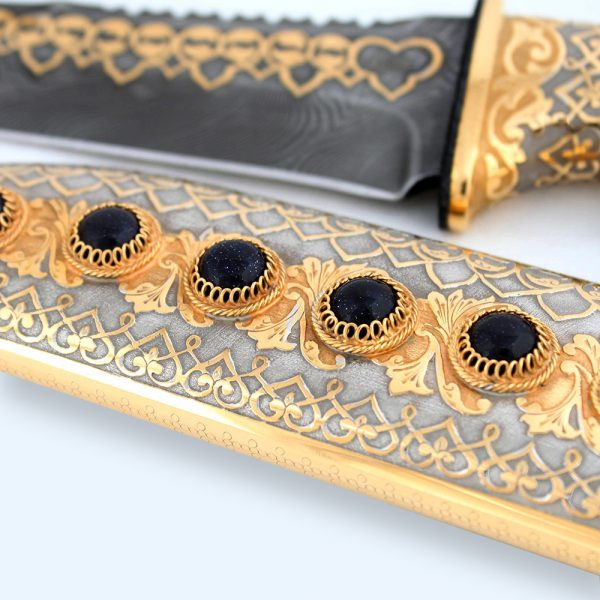 Decorated sheath of arabic knife.