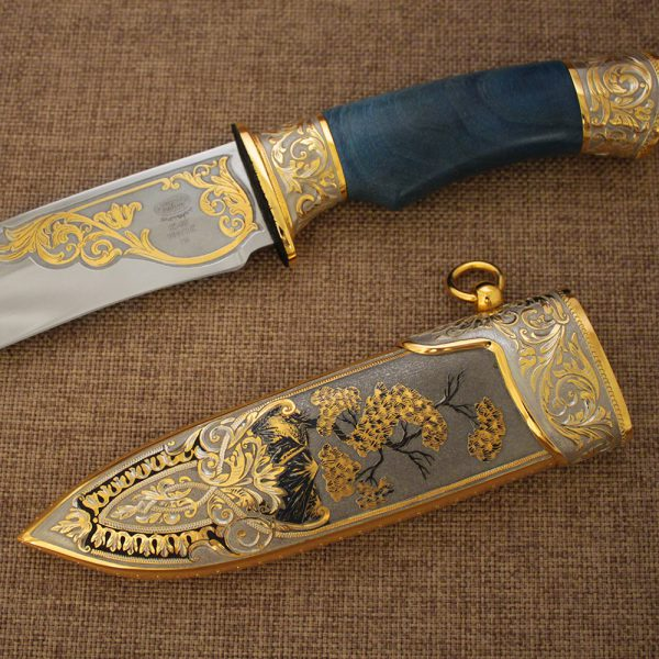 Handmade knife made in the classical style of the Zlatoust gunsmiths