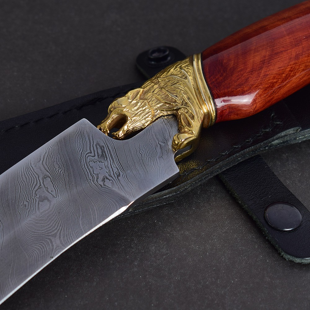 Handmade knife decoration art with cast guard