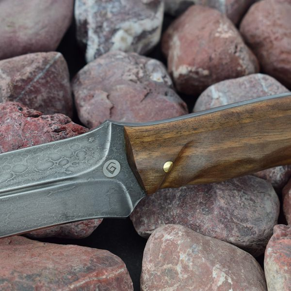 A sturdy, reliable knife made of cast bulat steel will become an assistant on a hunt or trip. Full tang series knife is a knife with overhead mounting of the hilt and a solid shank.