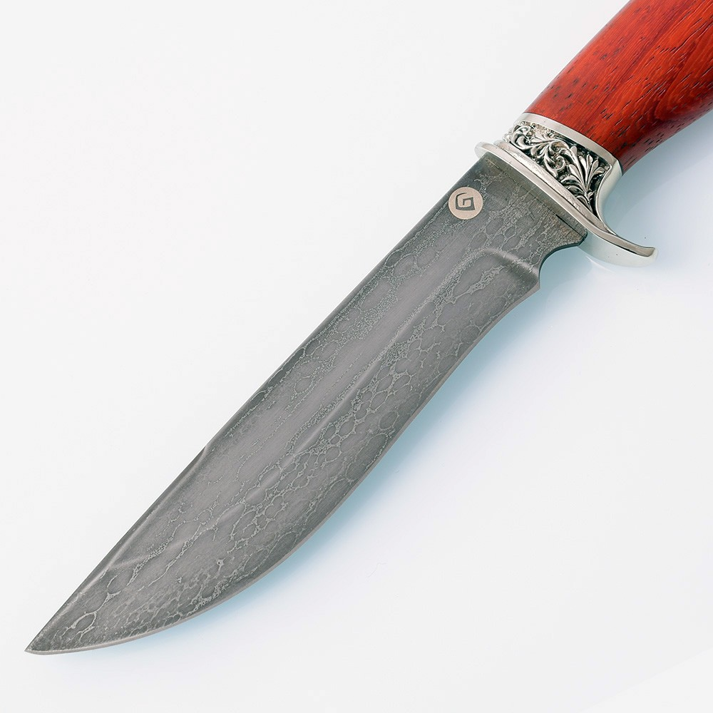 The blade of the knife is made of a secret metal alloy.