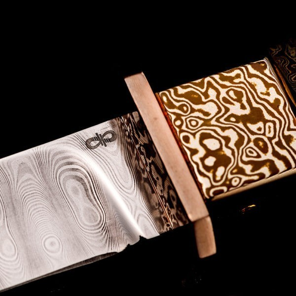 Damascus knife from Russia