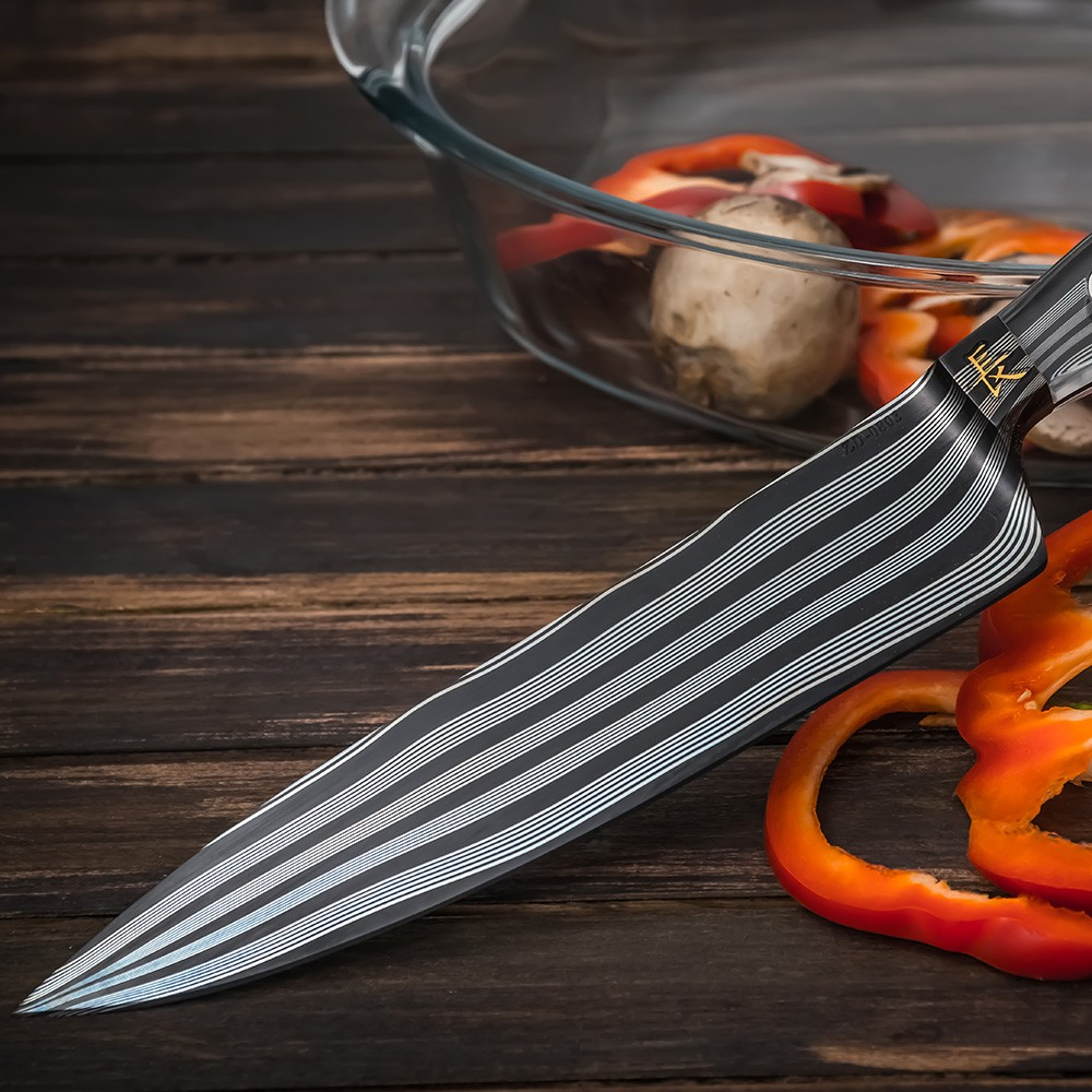 Luxurious cook knife for the chef.