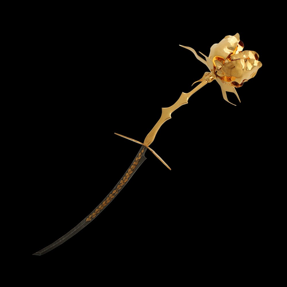 An exquisite gift for a successful woman is the Golden Rose Knife. The work of Zlatoust masters, suppliers of gifts for the presidents of the world.