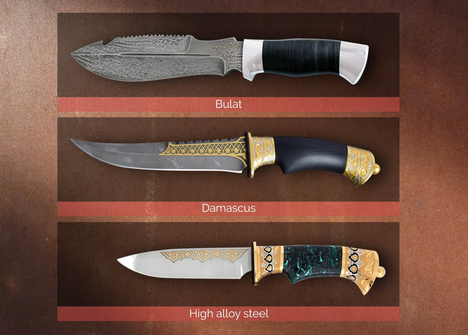 Comparison of steel for making knives