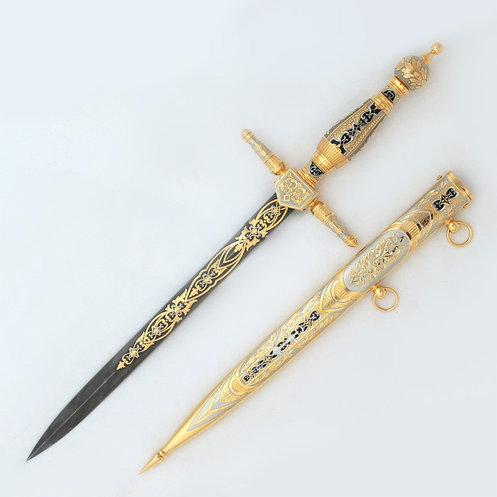Exclusive army dirk for cirimorial events. A luxurious gift for a senior soldier.