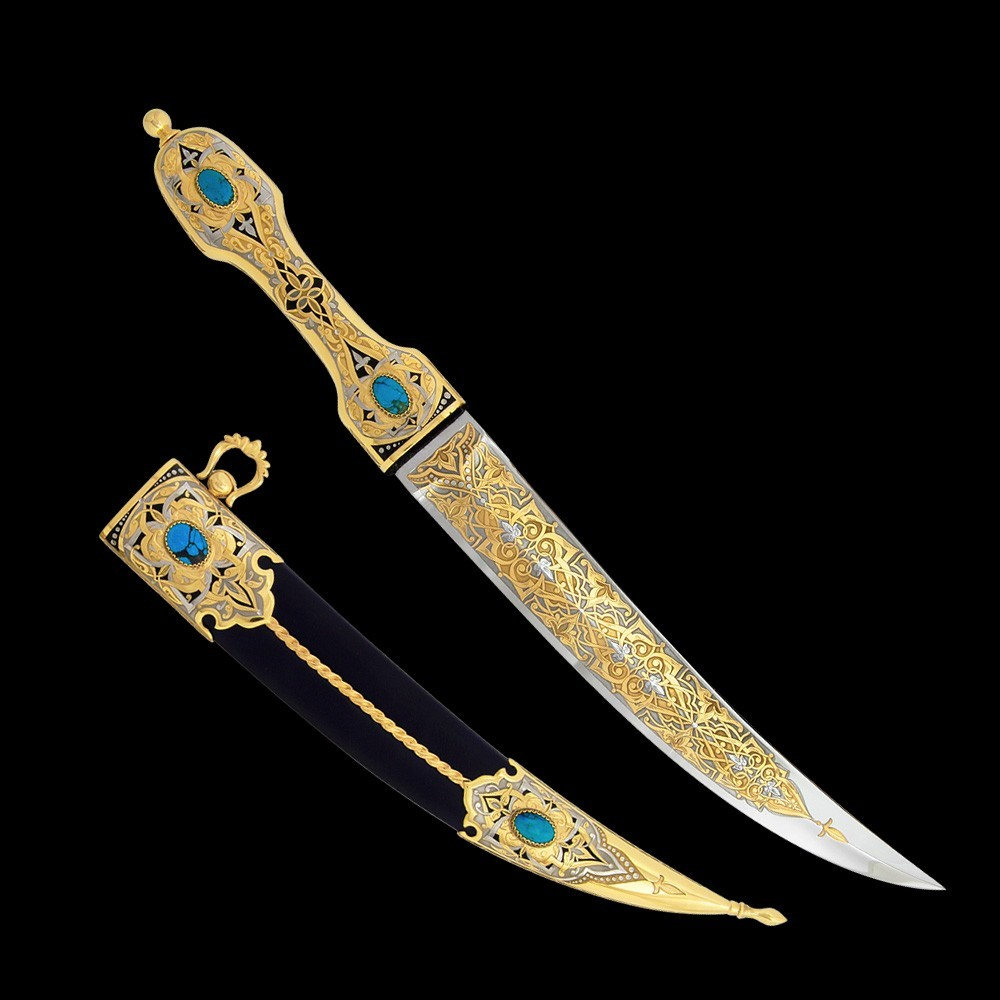 Luxurious bebut is a kind of dagger with a curved blade in the form of a predator tooth