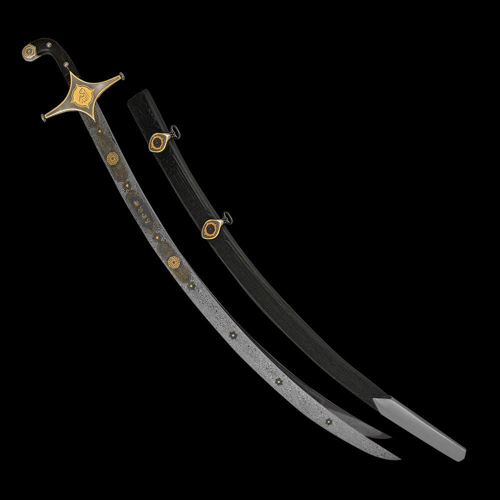 العمل اليدوي الحصري - السيف العربي ذو الفقار. هدية فاخرة للشيخ الملك.