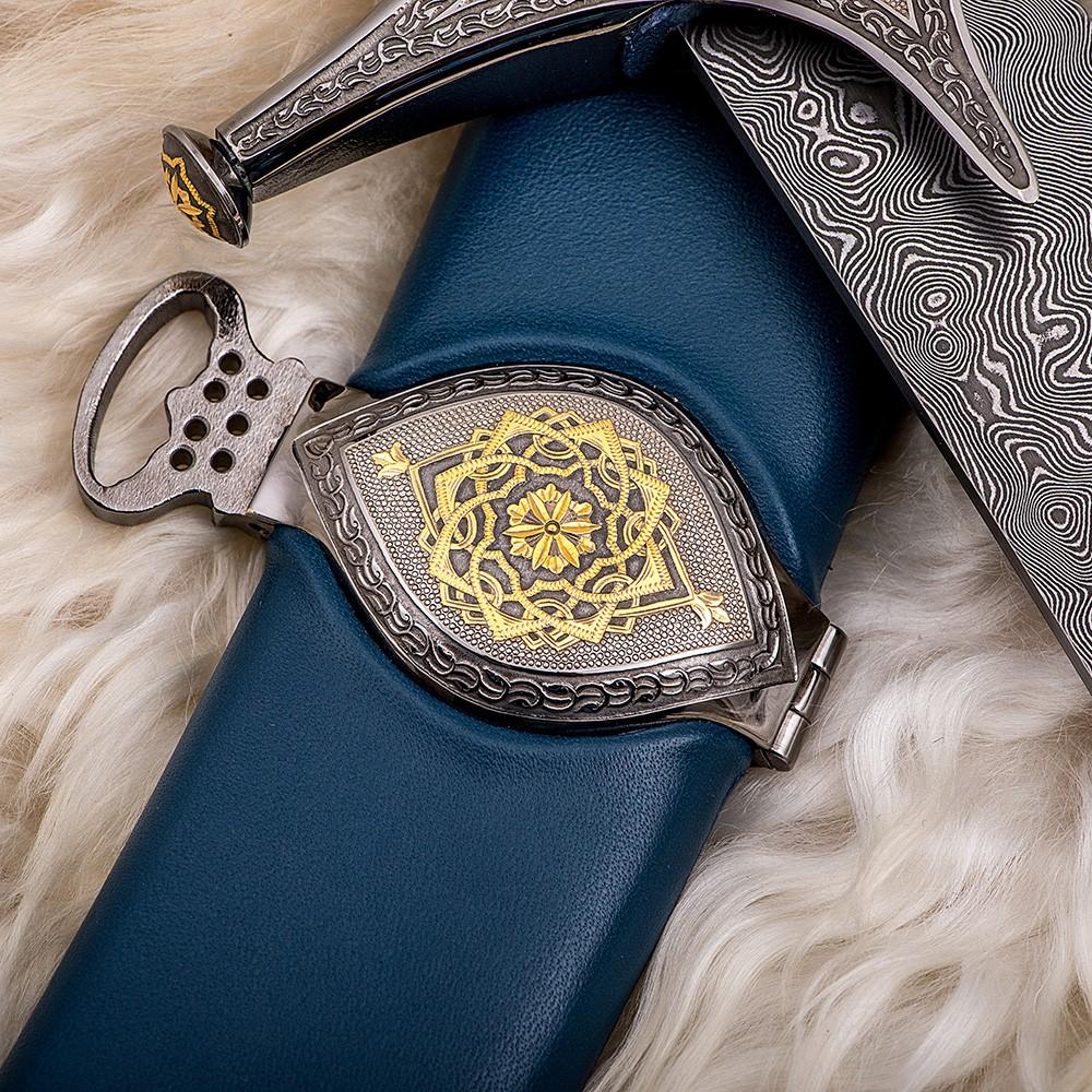Scabbard of arabic sword with belt loop. Handwork of Russian gunsmiths.