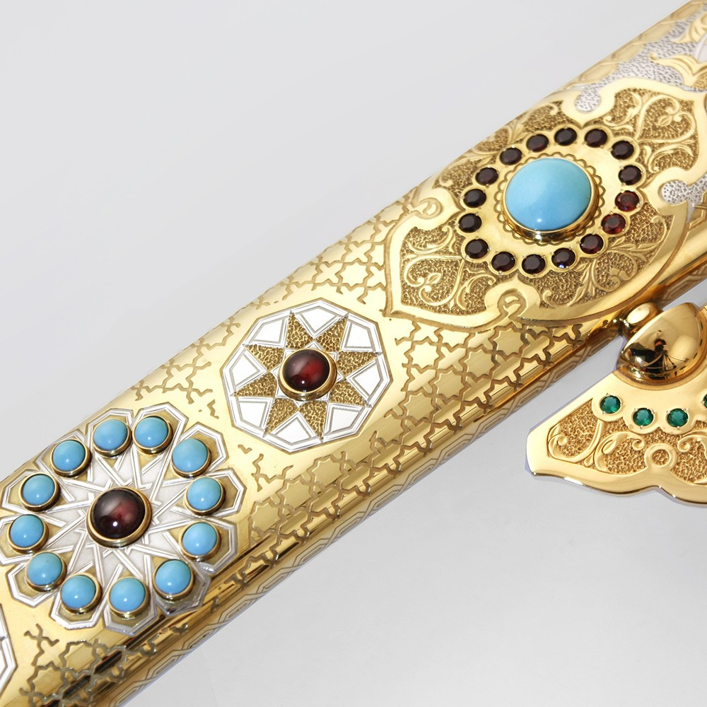Zemoreal sword decorated with stones and gold