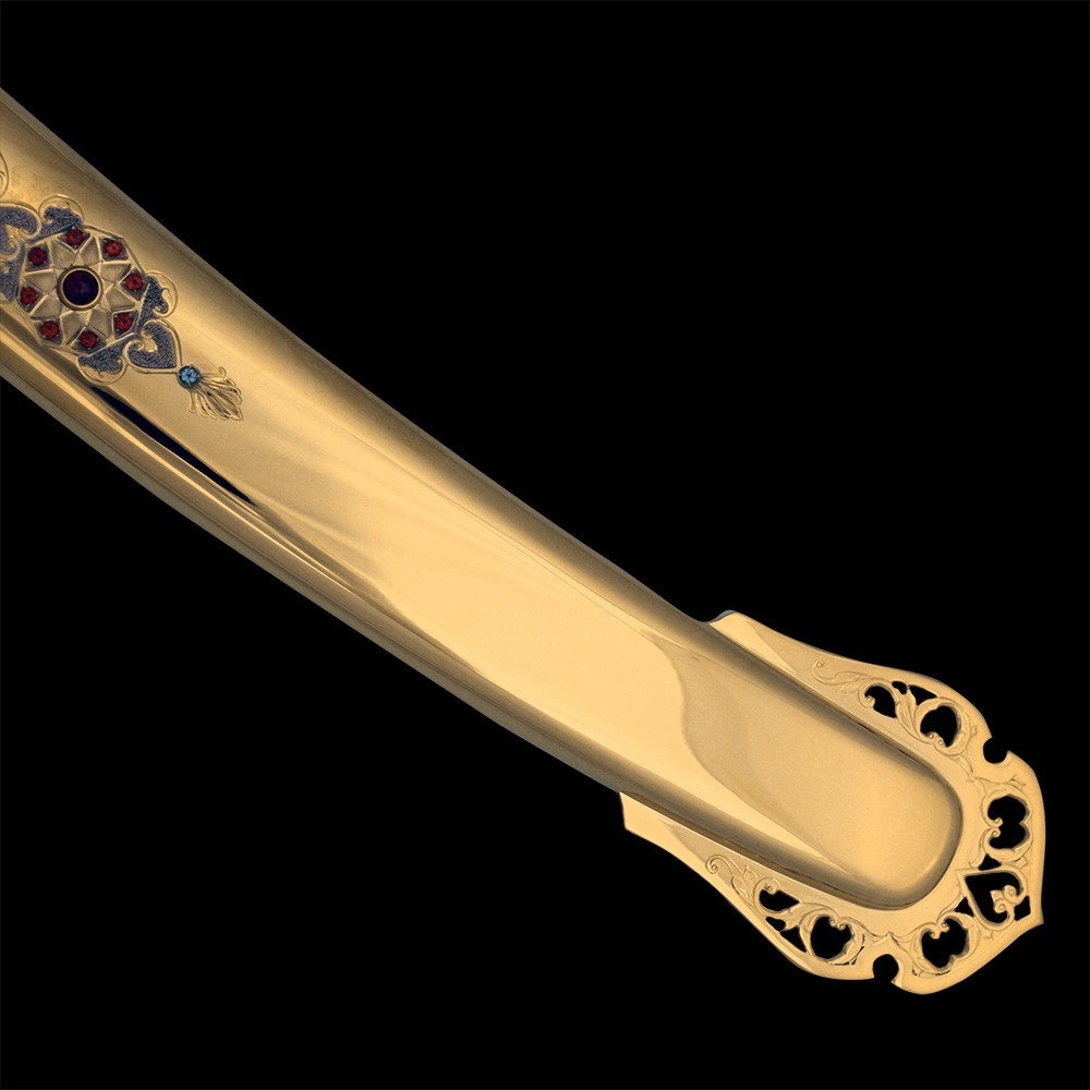 Golden sheath of arabic sword