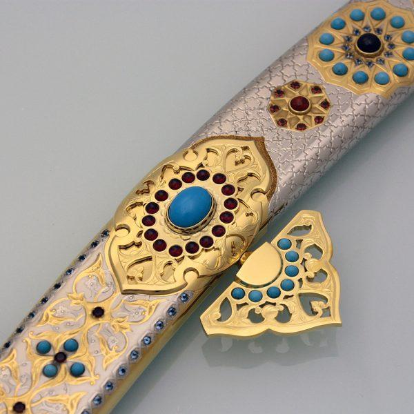Gemstone arabic sword sheath