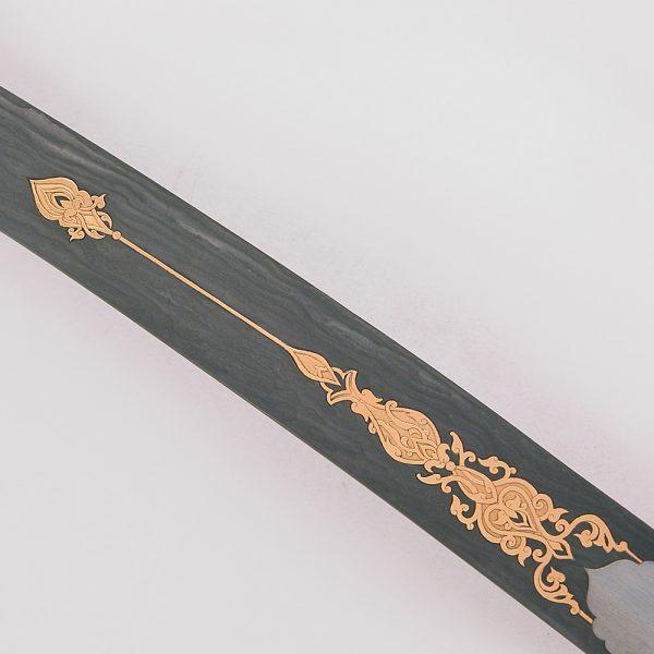 Damascus golden arabic sword blade