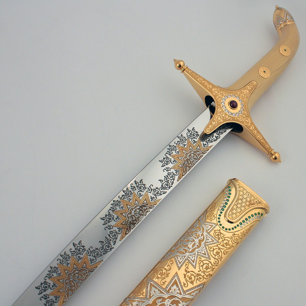 Arabic sword made of stainless steel and wooden hilt