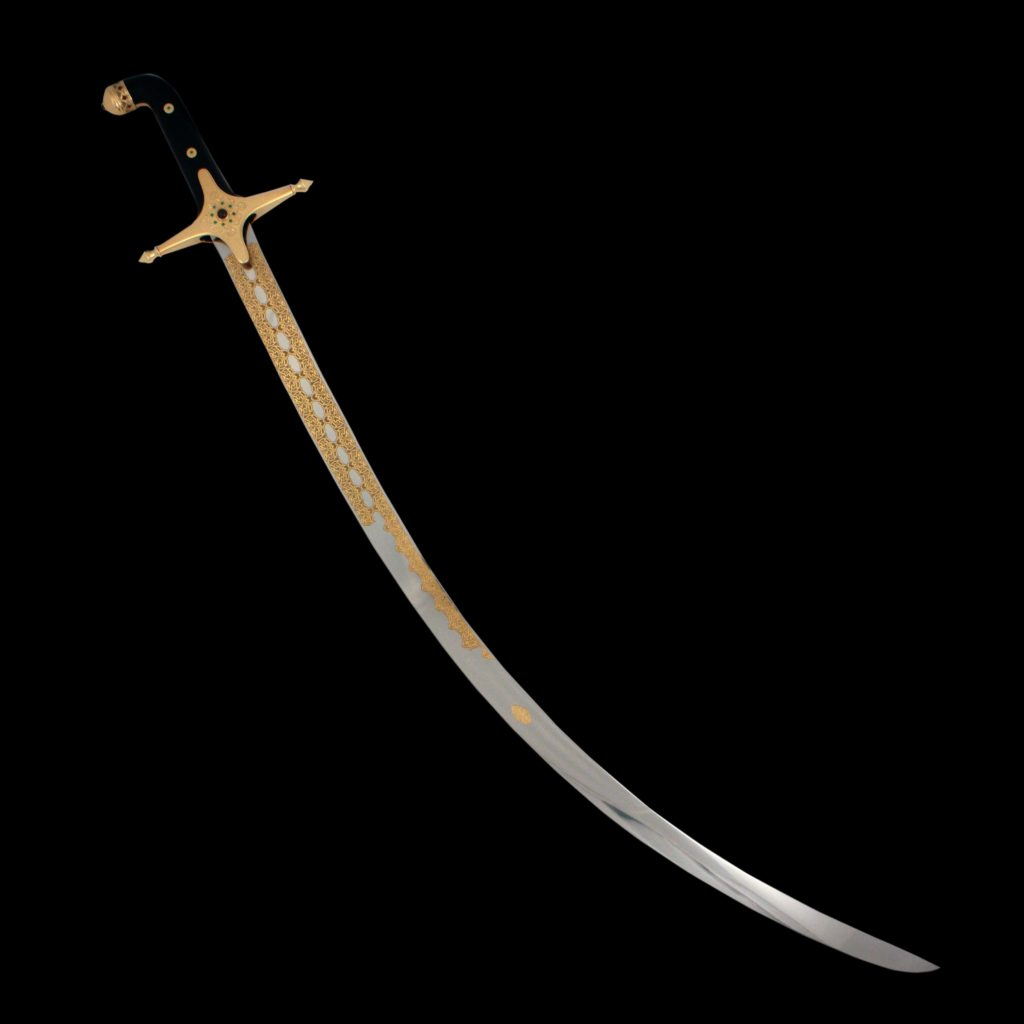 Arab saber Shamshir. A new saber will be an adornment of any collection