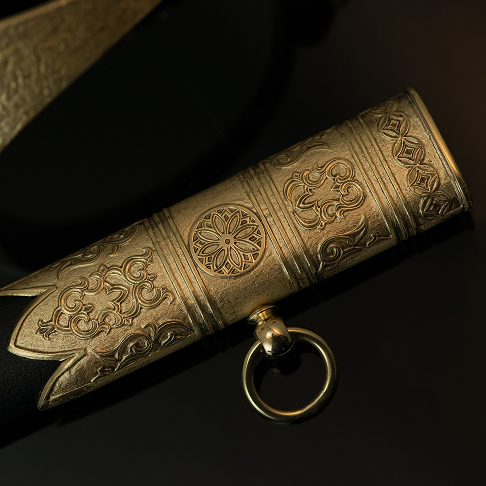 Cast elements of a scabbard of a souvenir epee.