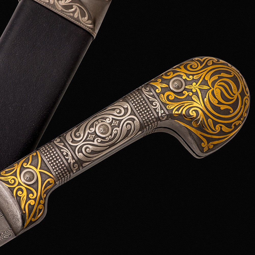 Decorated handle of Circassian drafts
