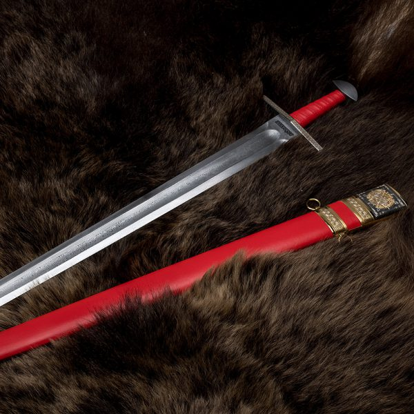 A small copy of the largest sword of Damascus steel. Exclusive work of Zlatoust masters.