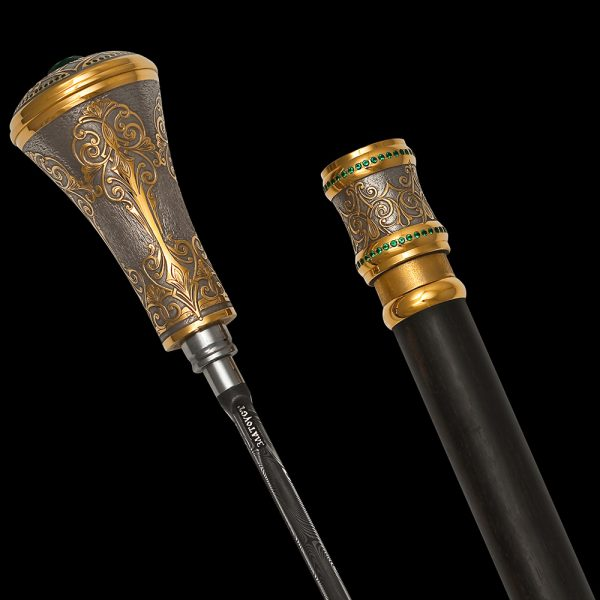 In the XVII century, the cane began to be perceived as an element of the suit speaking of the social status of its owner. In addition, the cane had another important function for that time – a melee weapon.