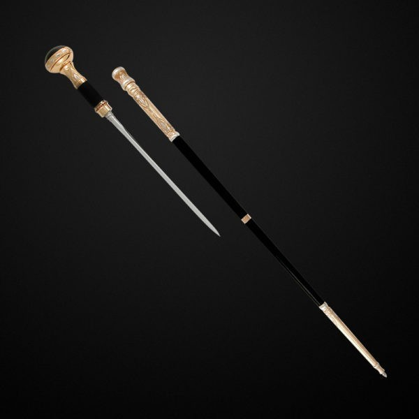 Fashionable cane-Minister. Simple classic walking stick, with steel stiletto inside. A great gift to the head.