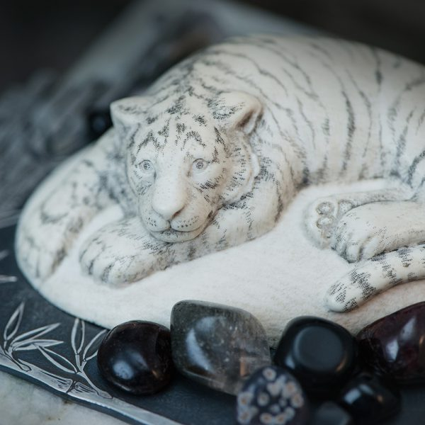 White tiger carved from bone