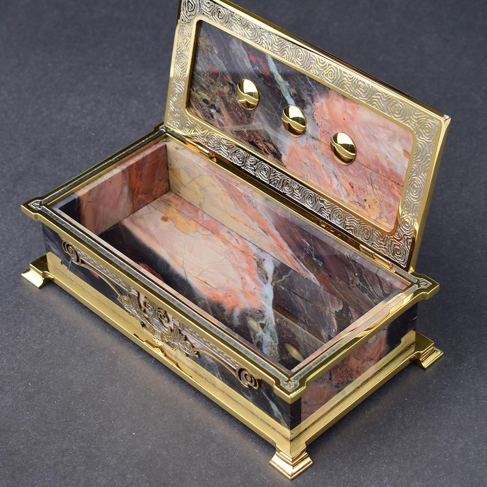 Handmade stone casket