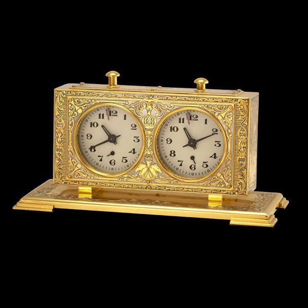 Handmade Golden Chess Clock