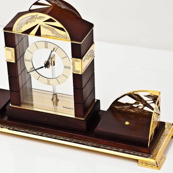 Desktop accessory - handmade wooden clock